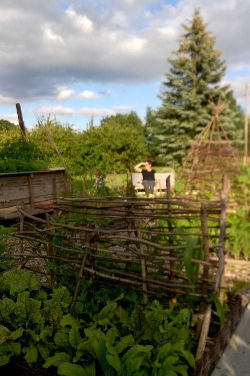 Garten-Flechtwerk