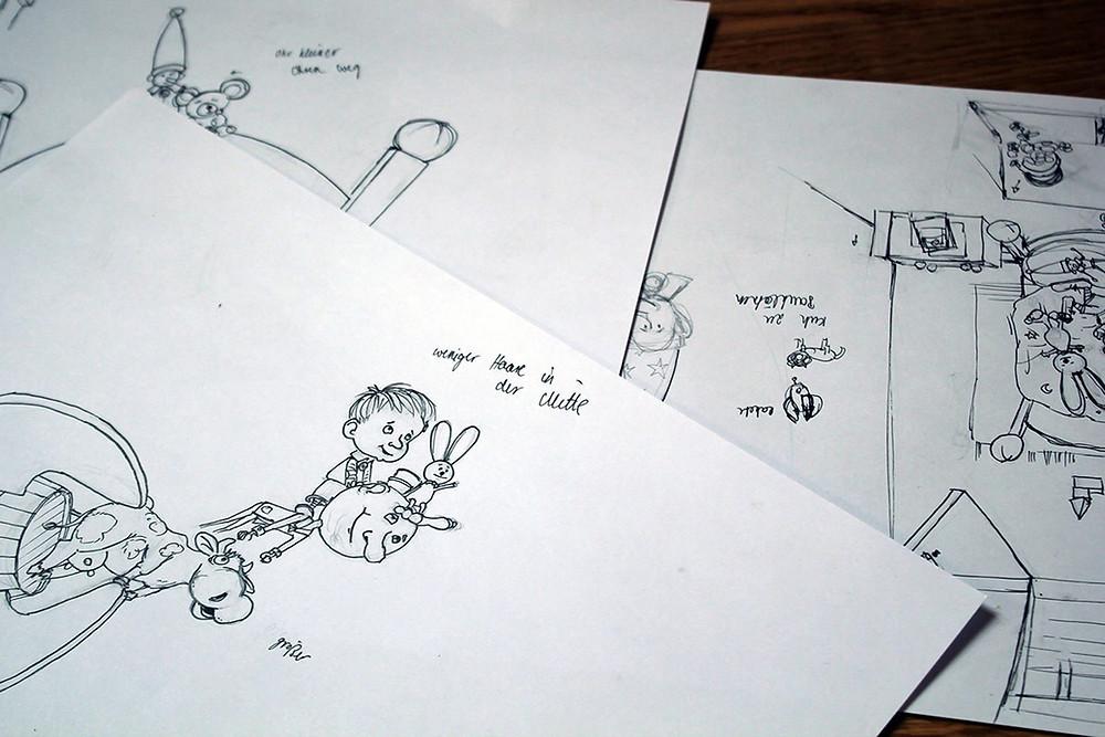 Kinderbuch fertige Zeichnung