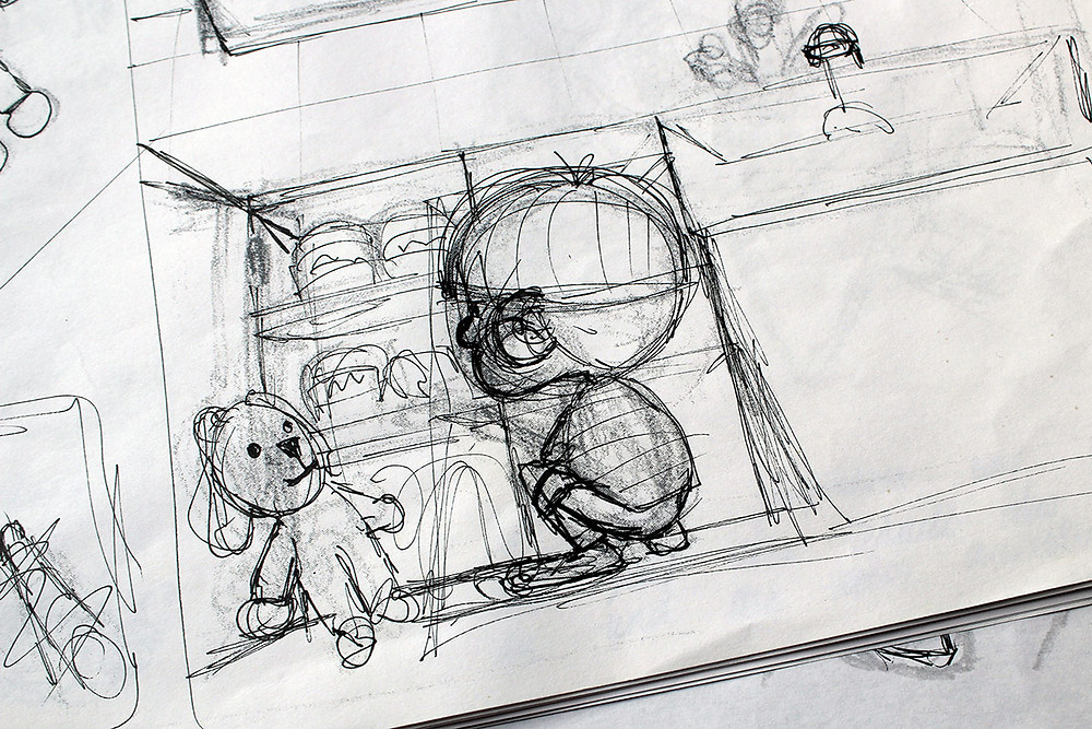 Kinderbuch Skizze Storyboard