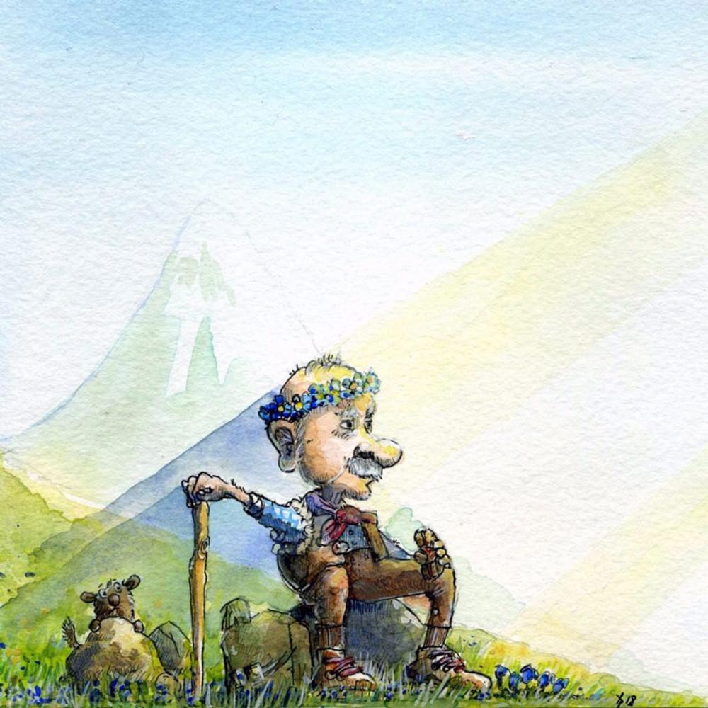 alpen enzian mann
