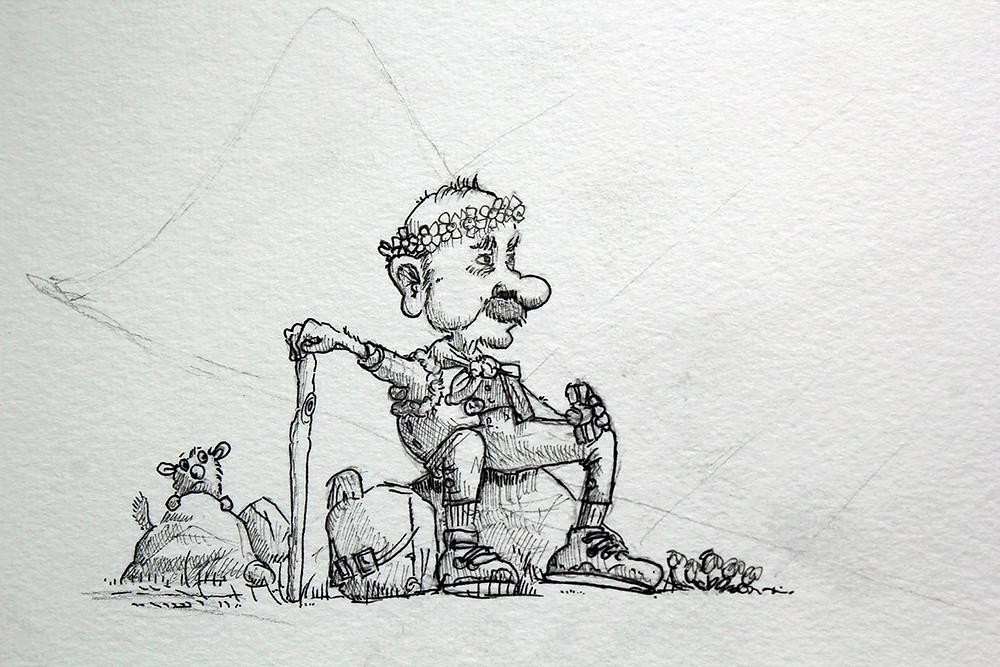 pen and ink zeichnung illustration friday