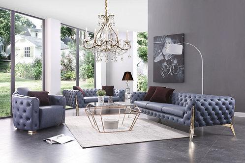 Sofa set  Transitional Blue