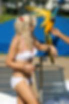 Célébrités avec perroquet - Courtney Love