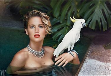 Célébrités avec perroquet - Jennifer Lawrence