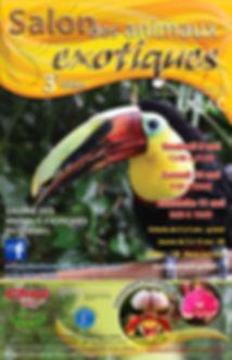 Posteur du Salon des animaux exotiques de Saguenay