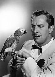 Célébrités avec perroquet - Vincent Price