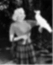 Célébrités avec perroquet - Jayne Mansfield