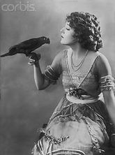 Célébrités avec perroquet - Mary Pickford