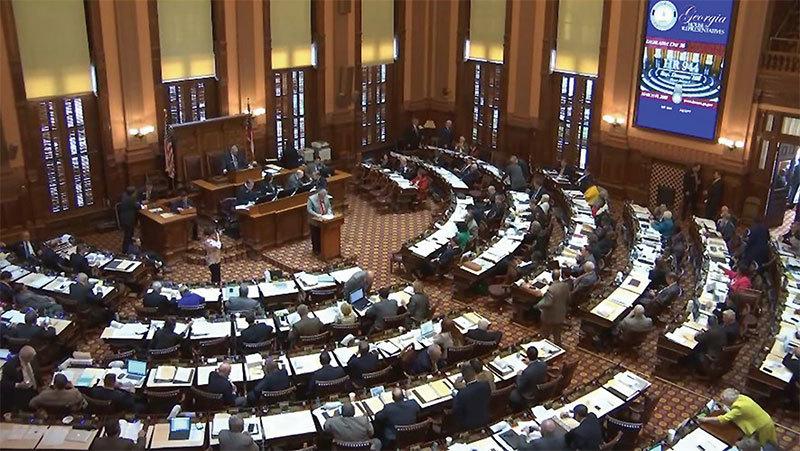 美國喬治亞州眾議院於2018年3月19日一致通過第944號決議案,譴責中共活摘法輪功學員器官的罪行。(明慧網)