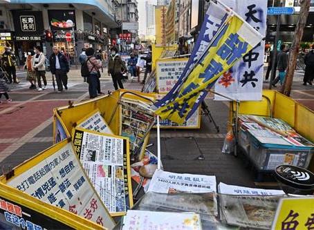 香港法轮功真相点遭中共恶徒破坏 市民谴责