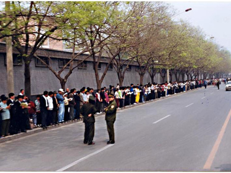 四•二五上访的直接原因:天津警察抓人打人,拒不放人