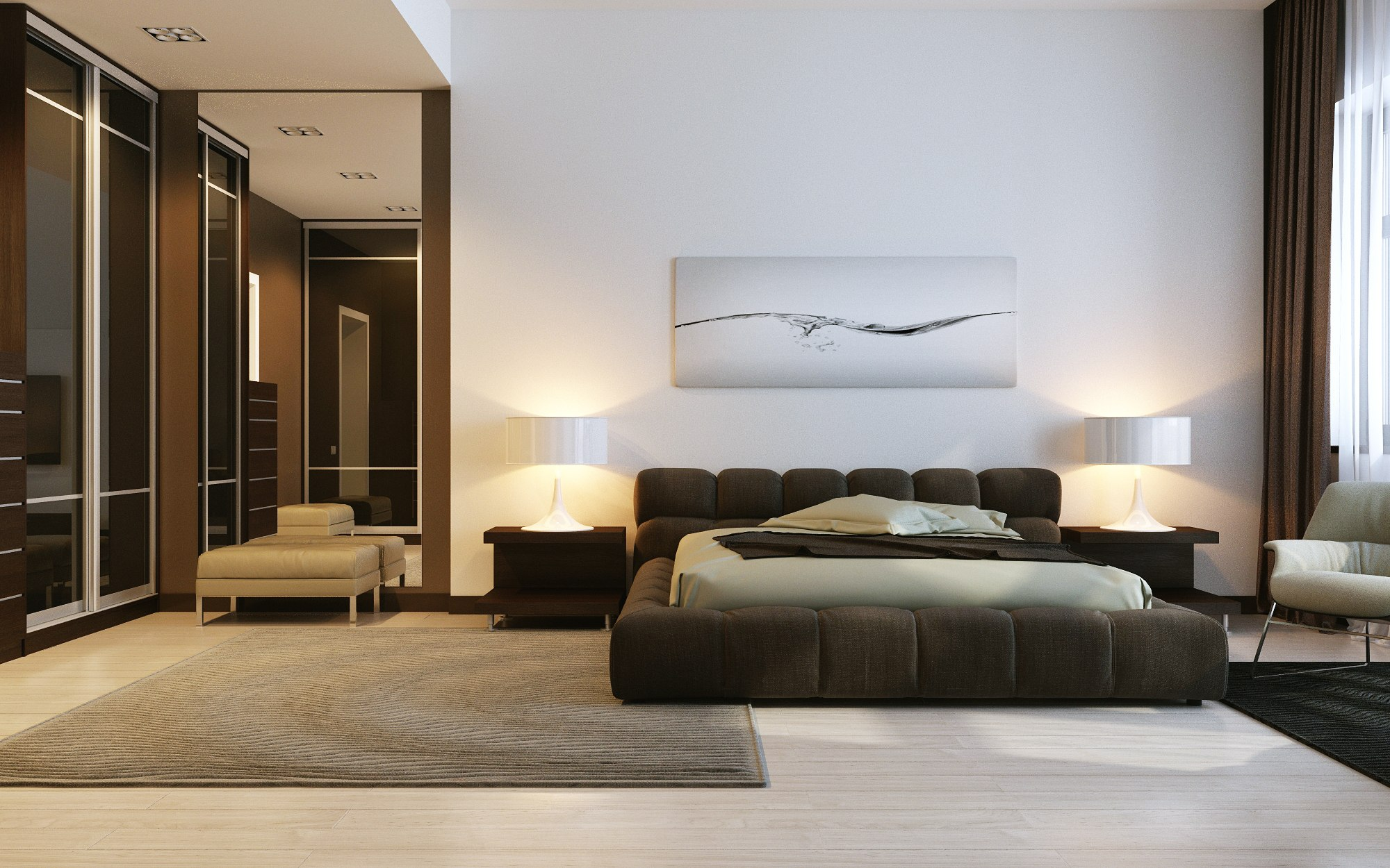 Contemporary badroom