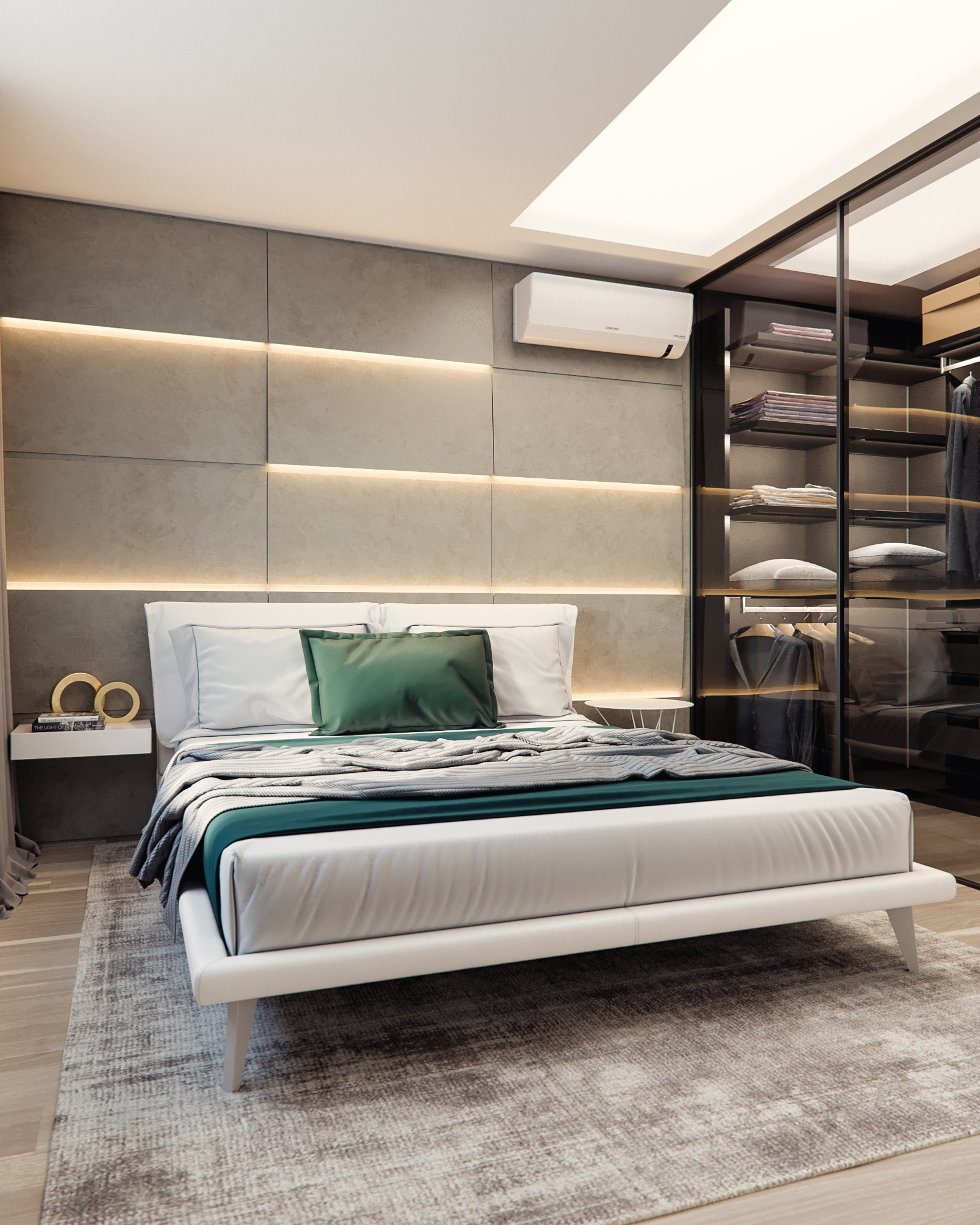 Bedroom in residential complex