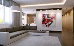 Living room in Ekaterinburg