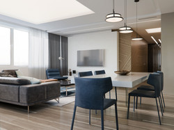 Living room in residential complex