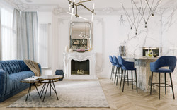 Living room in Moscow