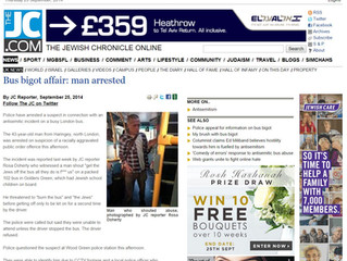 Jewish Chronicle Reports 102 Bigot arrested after Twitter Campaign