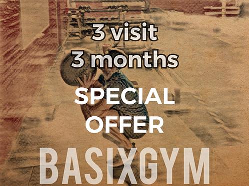 3 month 3 visit per week SPECIAL OFFER
