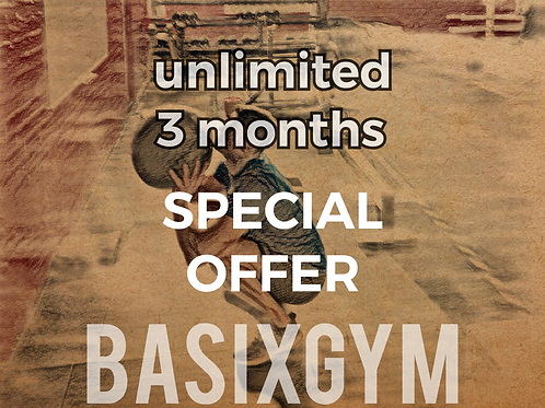3 months Unlimited Special Offer