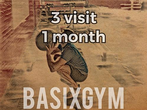 3 Visit Membership 1 month