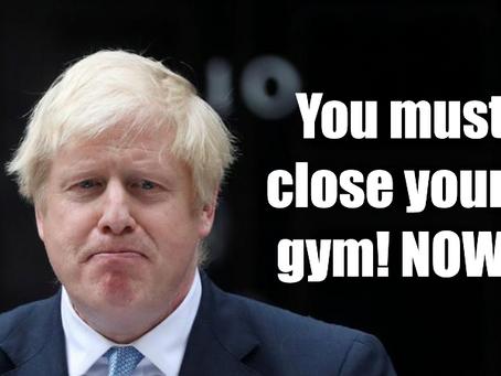 TEMPORARY Gym Closure