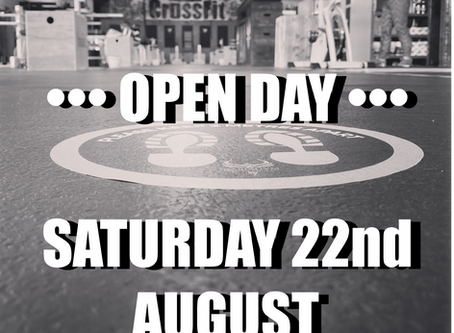 OPEN DAY Saturday 22nd