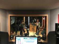 In the studio...
