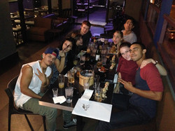A night out with the Cast