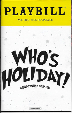Playbill - Who's Holiday!