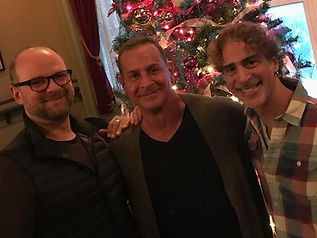 "With the brilliantly talented Carl Andress & Matthew Lombardo of ""Who's Holiday?"""