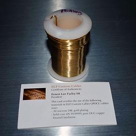 ELF custom internal cable 24K gold over POCC copper