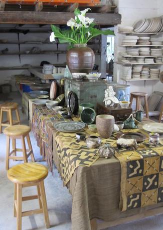 Studio with pots