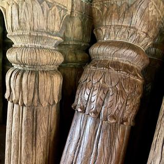 Carved pillars detail