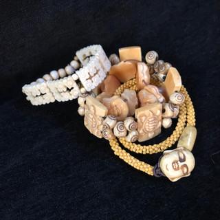 Bone and trade beads