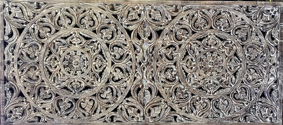 Contemporary carved panel suitable for b
