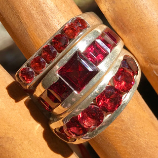 Silver and garnet, India