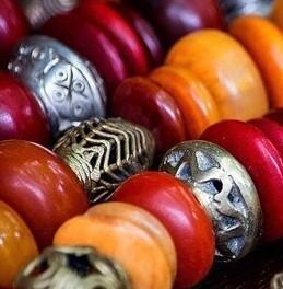 African 'amber' & West African brass