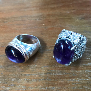 Amethyst and silver, India