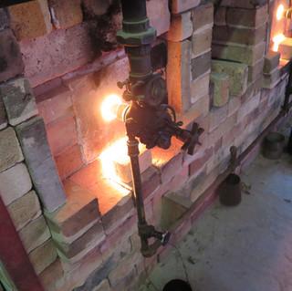 Burner during firing