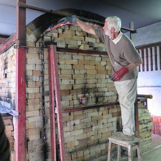Checking kiln (and adding insulation)