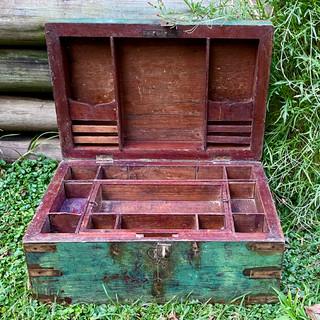 Writing chest interior