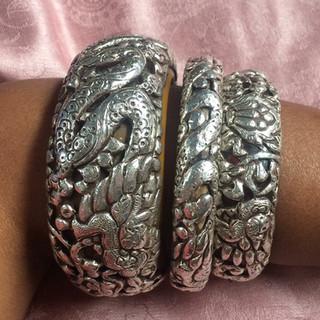 Silver bangles Nepal