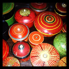 Wood and lacquer boxes India