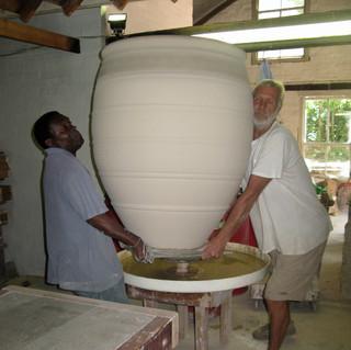 Digby and Watson moving glazed pot