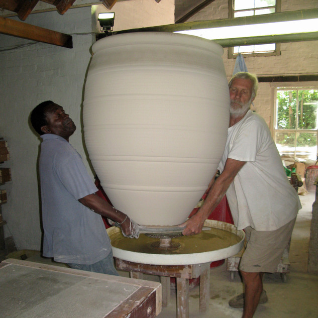 Digby and Watson moving glazed pot
