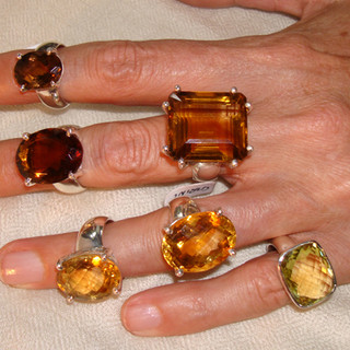 Citrine and silver, India
