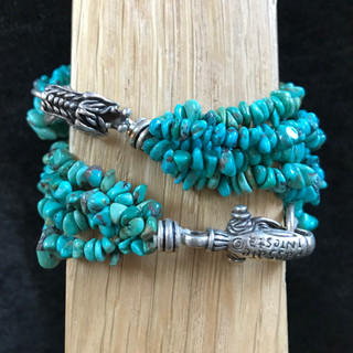 Turquoise with silver clasps