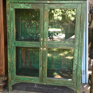 Glass-fronted cupboard