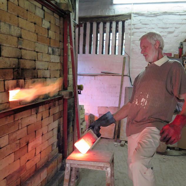Checking kiln during reduction