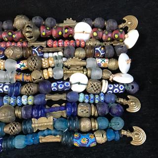 Trade beads & West African brass
